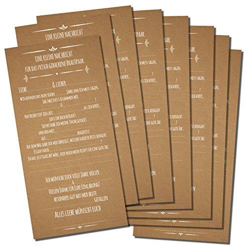 Partycards Hochzeitsspiel mit 52 Postkarten in DIN Lang (Karton)