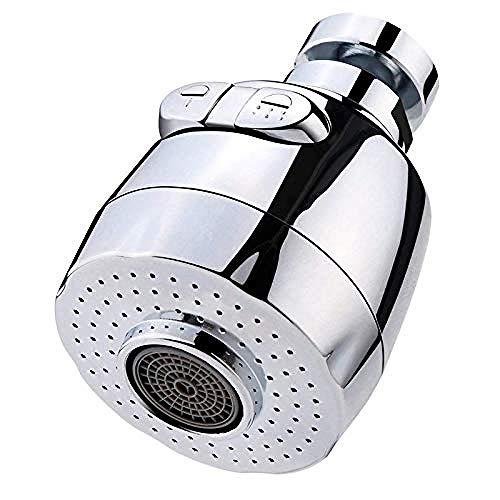 MLFPDXC-Extensor de grifo aireador giratorio de 360 grados aireador de grifo que ahorra agua para cocina aireador de grifo filtro de boquilla de grifo adaptador doméstico aireador (color: plateado)