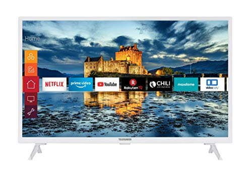 Telefunken XF32J511-W 32 Zoll Fernseher (Smart TV inkl. Prime Video / Netflix / YouTube, Full HD, Works with Alexa, Triple-Tuner) [Modelljahr 2020]