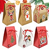 Yuson Girl 12 Sacs Boîtes-Cadeaux Papier Kraft Noël Maison Fête Noël Xmas