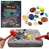 Enemy Juguetes Hechos a Mano para niños, Kit de Mega Gema, Gran Ciencia, gemología, Regalo de minería para niños Juguetes de excavación Regalo de Ciencia para mineralogía y entusiastas de la geología