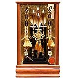 【人形の伏見屋】【破魔弓】8号 蓬莱[HOURAI]木目塗ケース【正月飾】【破魔矢】