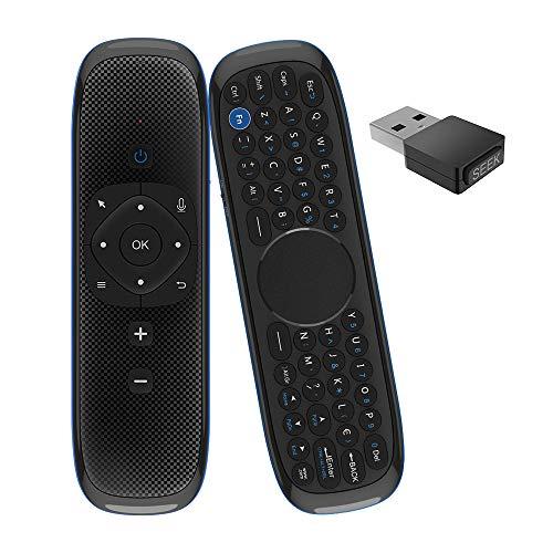 Mogzank Control Remoto por Voz 2.4G TV Control Remoto Teclado InaláMbrico para Android TV Box/PC/TV/Proyector/Todo en