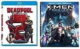 Double Down Dead X pool Marvel Super Hero Movies Deadpool with Gag Reel (Blu Ray) Part 2 + X-Men Apocalypse Movie 2 Pack Comic