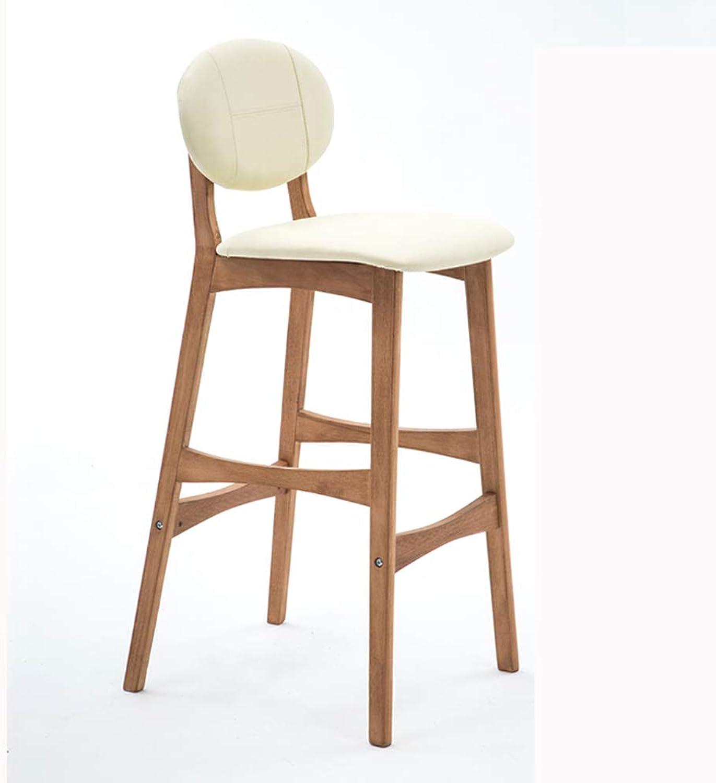 FEI Teng Bar Stool Modern Minimalist Solid Wood Bar Stool, Creative Bar Chair, Modern Minimalist Back Bar Chair, Bar Stool, Home High Chair H75CM (color   M)