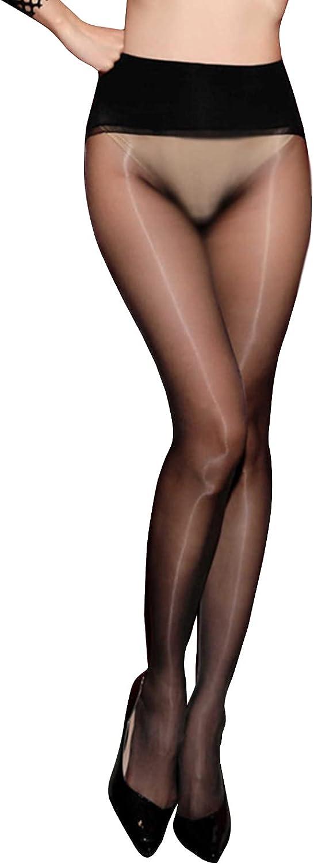 BEFASY Women's Sexy 1D Ultrathin 360°Seamless Pantyhose Shiny Glossy Nylon Sheer Stockings Tights