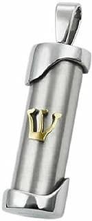 Judaica Mezuzah Pendant with Gold Inscription