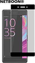 NETBOON® Tempered Glass Full Coverage Screen Protector for Sony Xperia XA - Black