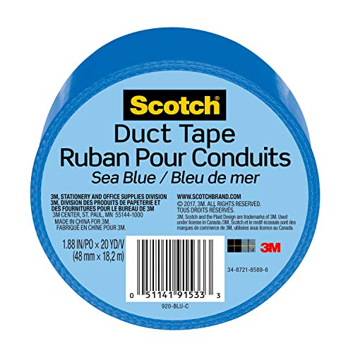 Scotch Duct Tape, Sea Blue, 1.88-Inch by 20-Yard