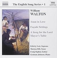Walton: The English Song Series, Vol. 1 by William Walton (2002-08-02)