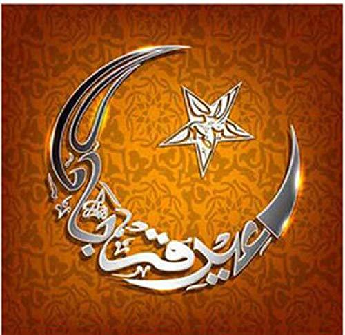 5D Diamant Borduren Islam Moslim heilige Moskee Diamant Schilderen Cross Stitch mozaik Puzzel Boor Bruiloft Decoratie 40x50cm/16x20in