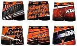 KTM Boxer para Hombre, Varios Modelos de Fotos según disponibilidad. Pack de 6 Act4 XL