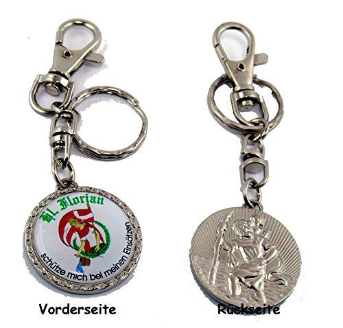 Heiliger Florian / Heiliger Christophorus Schlüsselanhänger