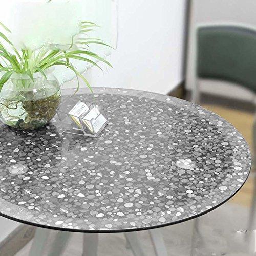 Nappe ronde de pierre transparente de ménage de PVC de table d'hôtel de preuve d'eau et d'huile, 2.0mm, diameter 120cm
