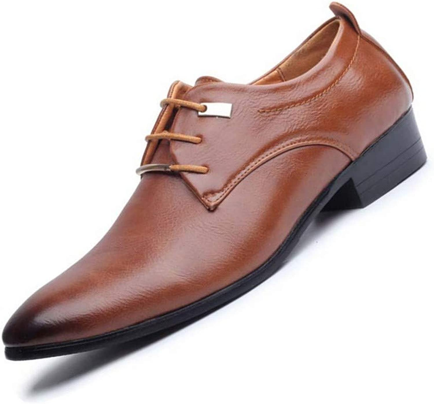 AKJC Business shoes Men Men's Business Dress shoes Oxford Men's Leather shoes with Pointed shoes Men's shoes