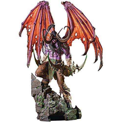 CJH World of Warcraft Figura de acción de Illidan 1/8 Escala Animado Figura PVC Estatua