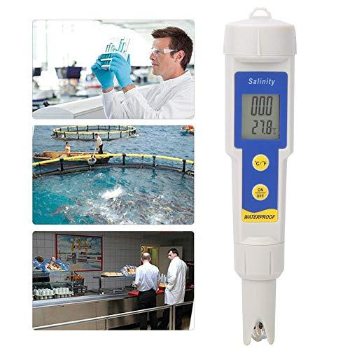 WYANG SA-1397 digitale zoutmeter, draagbaar, zout- en zouttemperatuurmeter, waterdicht met hoge nauwkeurigheid, zeer nauwkeurige zoutmeter voor zout, eten en dranken