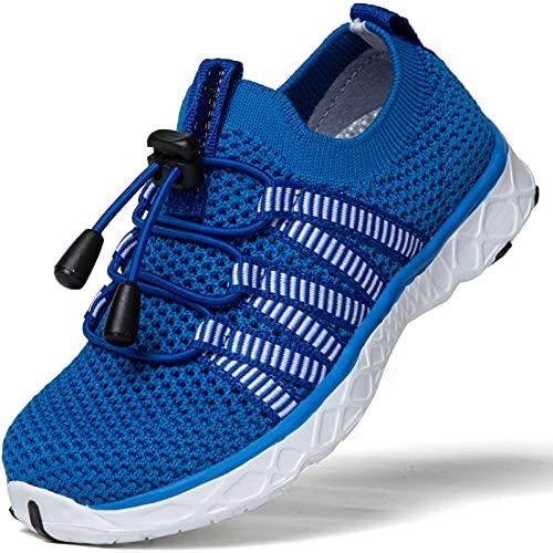 SAGUARO Zapatos de Agua Niñas Escarpines para Niños Zapatos de Playa Niños Transpirable Escarpines de Natación Zapatos de Exterior Verano Azul Gr.26