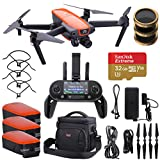 Autel Robotics EVO Quadcopter Drone with 3-Axis Gimbal Camera 4K 60fps Video and 12MP Photos, Remote Controller, Bundle with 2 Extra Battery, Bag, PolarPro Filter Kit, 32GB microSD Card + Accessories