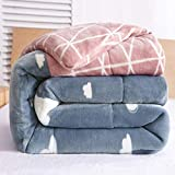 RESUXI Christmas Throw Blanket,Thick Winter Cotton Quilt Warm Student Single Dormitory Double Blanket,Large Throws Blankets for sofa-180 * 220cm(2.5KG)_A