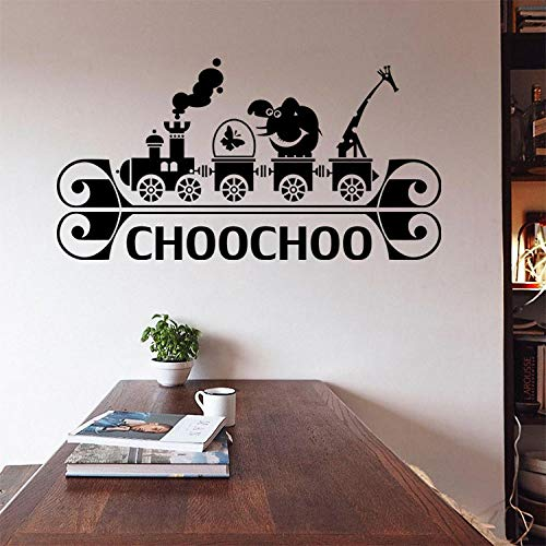 Creative Cartoon Train Wall Stickers Funny Cartoon Art Wall Decals for Kids Rooms Bedroom Living Room Home Decor