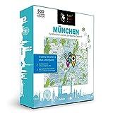 PuzzleMap Puzzle de mapa de Múnich   XXL 500 piezas   con folleto y tarjeta plegable   68 x 46 cm  ...