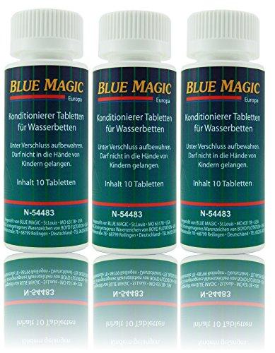 Blue Magic Conditioner Konditionierer Tabletten Tabs Wasserbett Schlauchsystem Kissen 30 Stück