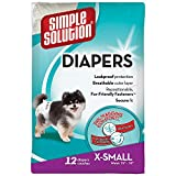 Simple Solution Disposable Dog Diapers for Female Dogs | Super Absorbent Leak-Proof Fit | XS | 12 Count