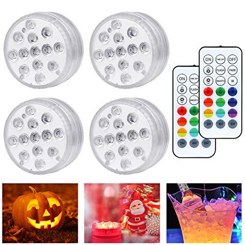 Unterwasser Licht,DIAOCARE Pool Beleuchtung,13 Mini Unterwasser LED Licht mit Fernbedienung und 9pcs Saugnapf,Poolbeleuchtung Unterwasser für Weihnachten,Halloween,Party,Aquarium