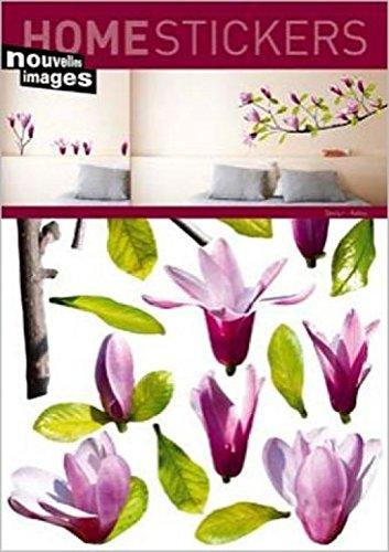 1art1 Blumen - Magnolie Wand-Tattoo | Deko Wandaufkleber für Wohnzimmer Kinderzimmer Küche Bad Flur | Wandsticker für Tür Wand Möbel/Schrank 70 x 50 cm