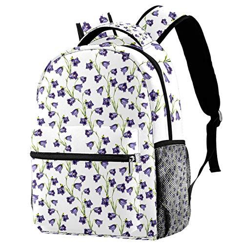 Mochila ligera de 30,48 cm para la escuela, mochila de día informal resistente para viajar con bolsillos laterales de botella, Papá Noel vintage en coche