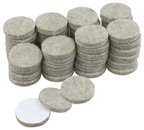 Rolson 61310 Felt Pads, 25 mm - 48 Pieces