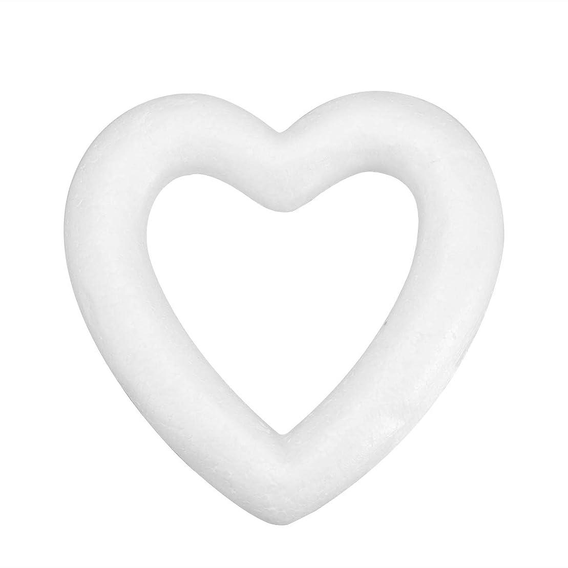 例外池仕事に行くAmosfun 白モデリング泡中空愛ハートポリスチレンフォームdiyクラフトモデリング泡誕生日ギフトのおもちゃ