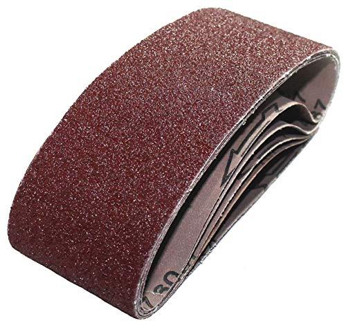 10 x K120 Gewebe-Schleifbänder für Bandschleifer Größe 75x533 │ Schleifband für Bandschleifgeräte