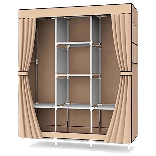 UDEAR Einfach Kleiderschrank aus Stoff Faltschrank Stoffschrank Bedroom Wardrobes