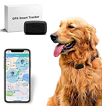 GPS Tracker for Vehicles Dog GPS trackers 1week Battery Life IP67 Waterproof Dog and cat Collar pet GPS Tracker Security Fence Remote Monitoring - Fits for All Android iOS Devices