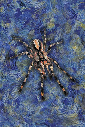 Tarantula: Notebook Blank College-Ruled Lined in Van Gogh Starry Night Art Style (Student Animal Journals for Writing Journaling & Note-taking)
