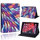 lingtai Funda de Cuero Delgada para Ap iPad Mini 1/2/3/4/5 / iPad 2/3/4 / Air 1/2/3 / Pro Tablet Soporte Estuche Protector + Pen (Color : BlueW, Size : iPad Air 3 10.5 2019)