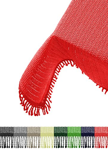 Brandsseller Gartentischdecke Tischdecke - wetterfest und rutschfest für Garten, Balkon und Camping - Eckig 130 x 160 cm - Farbe: Rot