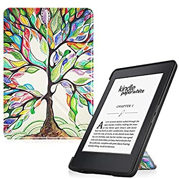 Fintie Origami Case for Kindle Paperwhite - Fits All Paperwhite Generations Prior to 2018  Not Fit All-New Paperwhite 10th Gen  Love Tree