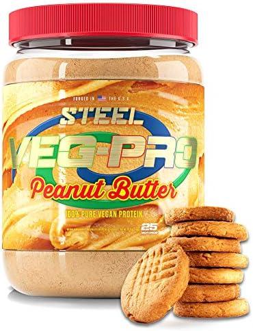 Steel Supplements Veg PRO Vegan Protein Powder Peanut Butter Organic Pea Protein Powder Gluten product image