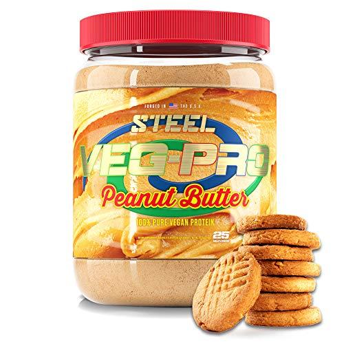 Steel Supplements Veg-PRO Vegan Protein Powder, Peanut Butter – Organic Pea Protein Powder, Gluten Free, Dairy Free, Soy Free, Non GMO, BCAA Amino...