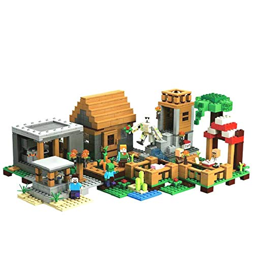 aolongwl Bloques de construcción The Village Special Edition Building Blocks con Steve Figuras De Acción Compatibles My World Set Toy 21128