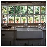 9 pegatinas para ventana de maceta de hierbas con 14 mariposas para ventanas – no adhesivas de doble cara para ventanas de vidrio