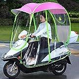 Parasol de Movilidad y Parasol de Movilidad Totalmente Cerrado para Scooter de Motor, Impermeable, Universal, Rosa, C