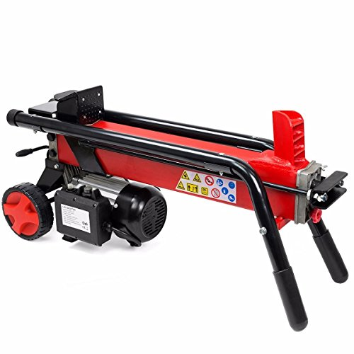 Stark Industrial 7-Ton Electrical Log Splitter Wood Cutter 15Amp Handle with Built-In Wheels