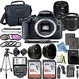 Canon EOS Rebel T7 DSLR Digital Camera with 24.1 MP CMOS Sensor, EF-S 18-55mm & Tamron AF 70-300mm Lens Kits + 2 Pack SanDisk 64GB Memory Cards + Bag + Accessory Bundle