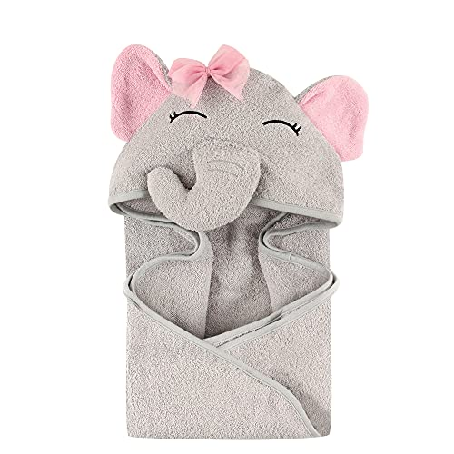 Product Image of the Hudson Baby Unisex Baby Cotton Animal Face Hooded Towel, Pretty Elephant, One...