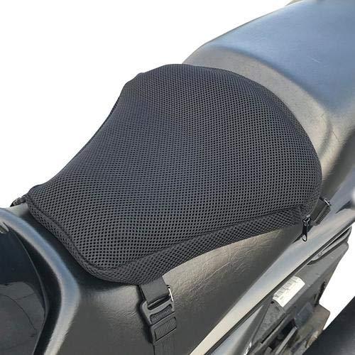Knowled Cojin Asiento Gel Moto, Tela de Malla 3D Transpirable Antideslizante Aislamiento de Calor Protector Solar Motocicleta Cojín Accesorios de Motocicleta