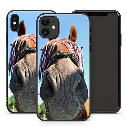 Handyhülle Schöne Pferde für iPhone Apple Silikon MMM Berlin Hülle Pferd Pferdehülle Pony Einhorn, Kompatibel mit Handy:Apple iPhone 5 / 5S / SE, Hüllendesign:Design 2 | Silikon Schwarz